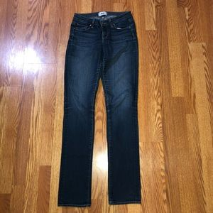 Paige Skyline Straight Med Wash Jeans Stretch 26